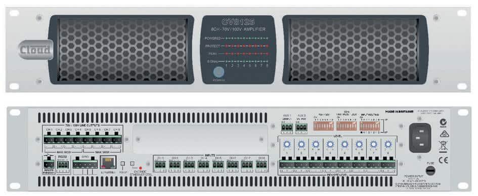 CLOUD CV Digital Amplifier Series 70V:100V